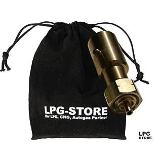 LPG-Store LPG GPL Autogas Tankadapter BAJONETT Gasflaschen Propangas lang Adapter mit Stoffbeutel by