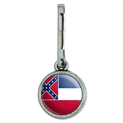 Antik Charm Kleidung Geldbörse Gepäck Rucksack Zipper Pull State Flagge Mississippi State Flag (Mississippi State Flag)