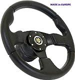 [TÜV_M10] DoradoTuning Volante Sportivo Ø 320mm Rally/Deriva/Gara/Universale/Nero