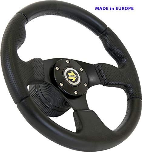 [TUV-M10] Dorado Tuning Sportlenkrad/Lenkrad Ø 320mm Rallye/Drift/Rannen/Universal/Schwarz/Special Perforiertem Griffbereich