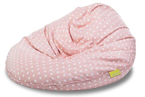 Preisvergleich Produktbild my-teepee MT05ro Sitzsack für Kinder, Durchmesser 70 cm, 100 L, Rosa mit weißen Sternen