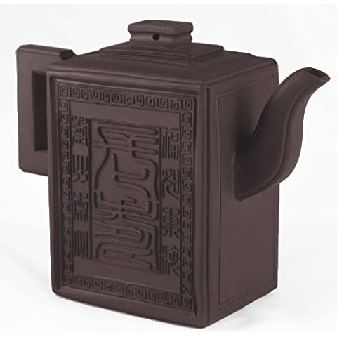 Black Fortune Lines Chinese Yixing Clay Tea Pot 15 ounces by BigKitchen