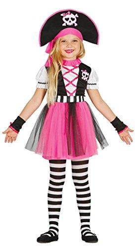 Costume pirata piratessa rosa - bambina 7-9 anni