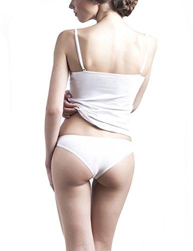 Uniconf Damen Panty 5er Pack Weiß Stretch Baumwolle Weiß