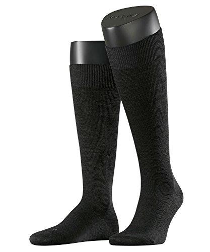 FALKE Herren Kniestrümpfe Support Energizing Wool, Gr. 41/42, Grau (anthrazit meliert 3080)