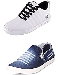 Jabra Perfect Combo Of 2 Shoes- Sneakers And Loafers In Various Sizes - B06XSCTSDX