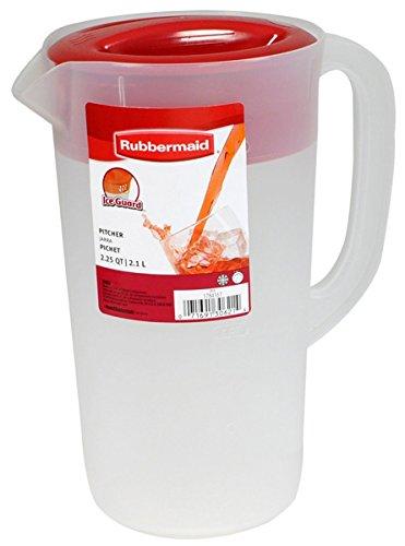 Rubbermaid Krug mit Deckel, 2,25 qt, Weiß mit rotem Deckel (Rubbermaid Krug)
