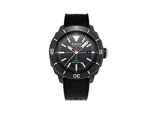Alpina Geneve Seastrong Quartz GMT AL-247LGG4TV6 Reloj de Pulsera para Hombres