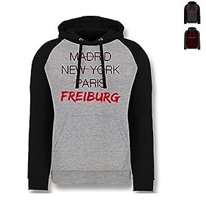 Städte - Weltstadt Freiburg - Cooler Unisex Baseball Hoodie für Damen und Herren