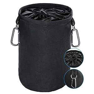 XCOZU Wäscheklammer Beutel zum Aufhängen, Klammerbeutel Wasserdicht mit 2 Kleiderbügel Clips hält Pegs sauber und trocken für Indoor Outdoor Pegs Organizer Lagerung verwenden
