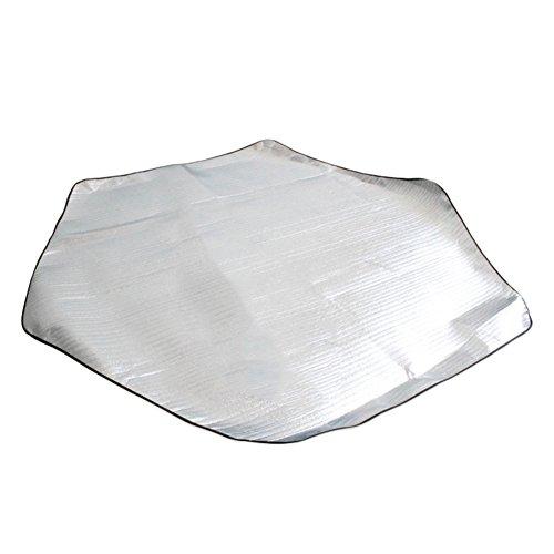 Couverture de pique-nique l'humidité Proof Pad, très épais double face étanche en feuille d'aluminium mat Pad pour camping randonnée Voyage pique-nique L