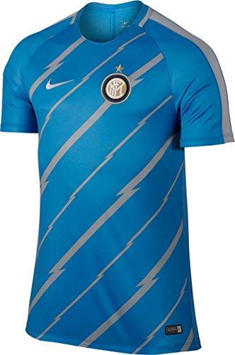 Nike M NK Dry SQD Top SS GX maglietta a maniche corte, uomo azul (lt photo blue / wolf grey / wolf grey)