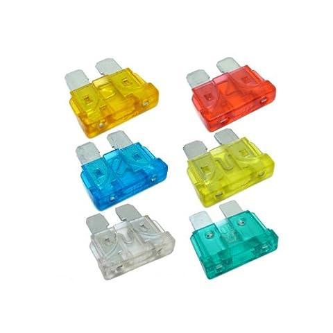 TOOGOO(R) 30 X Lames isolantes pour les voitures 5A 10A 15A 20A 25A 30A Emballage mixte