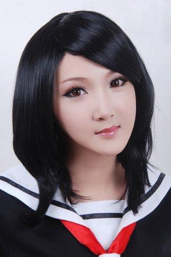 ücke Bleach Rukia flauschigen Form ANOTHER sehen Kawasaki Ming Kurze schwarze gerade Perücke Fransen (Kawasaki Halloween)