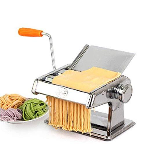 SuRose Nudelmaschinen Manuelle Multifunktions-Zwei-Messer-Pressmaschine für den Haushalt, Edelstahlnudel, Mehlkloßhaut, die Maschine herstellt