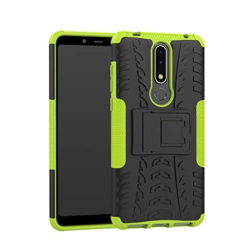 betterfon Nokia 3.1 Plus hülle Outdoor Handy Tasche Hybrid Case Schutz Panzer TPU Silikon Hard Cover Bumper für Nokia 3.1 Plus Grün