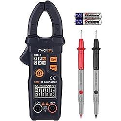 Pince Ampèremétrique, Multimètre Numérique Tacklife CM03 Professionnel /6000 Comptes/Gamme Automatique Intelligente NCV Détecteur de Tension DC/AC Courant AC Continuité Résistance Fréquence