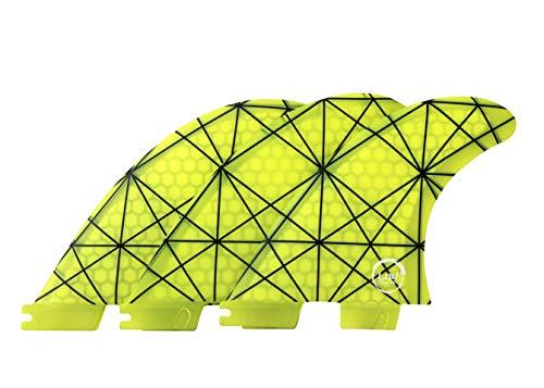 Liquida FCS 2 System Fat Flunder Finnen, G5 Medium Glasfaser Honeycomb (Gelb)