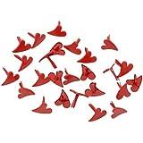 HOUSWEETY 100 Brads Attaches parisiennes Cœur ur Rouge Scrapbooking 12x11mm-design personnalisé-charme pour la mode