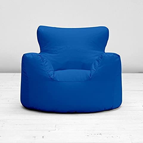 Childrens Kids Royal Blue Cotton Small Chair Seat Beanbag Bean Bag With Filling