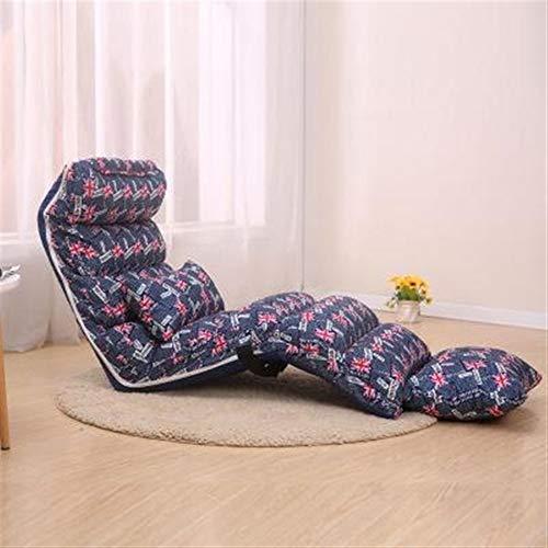 WOAINI Floor Chair Sleeper 6-Position Verstellbarer Winkel faltendes faules Sofa gepolsterte Couch-Liege einfach für die Lagerung / 68.9x21.3 Zoll, 80.7x21.3 Zoll (Farbe : C, größe : 205cm) - Sofa Couch Sleeper