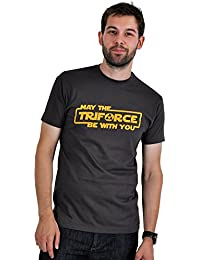Zelda - T-Shirt May The Triforce Be With You - Gris