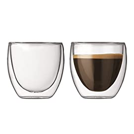 Bodum PAVINA Double Walled Thermo Glasses 0.08 L, 2.5 oz, Pair
