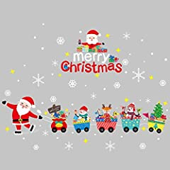 Idea Regalo - Adesivo Murale Elettrostatico Di Natale Rimovibile