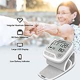 Koogeek Wrist Blood Pressure Monitor,Grey,Automatic Blood Pressure Cuff Wrist with Heart Rate