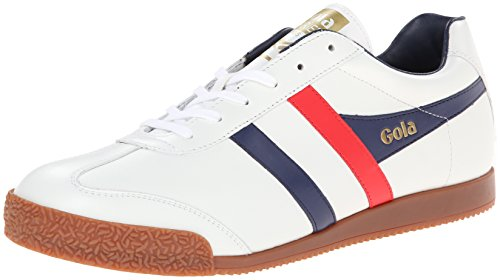 Gola - Harrier, Sneakers uomo, color Bianco (White/Navy/Red), talla 44
