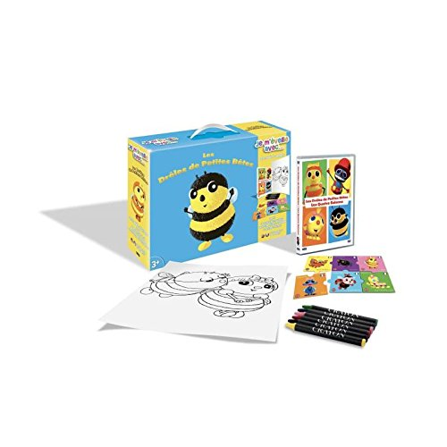 Drôles de Petites Bêtes - Je m'éveille avec... (DVD+Puzzle+6 Crayons pastels + Poster)