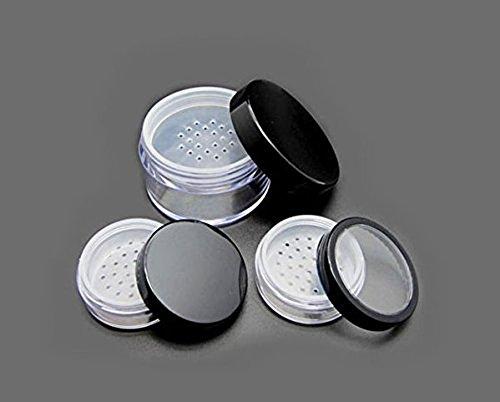 Portable Empty Clear Foundation make-up Powder Puff box custodia contenitore