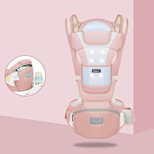 360 ° atmungsaktive Babytrage + Einfach zu tragen 6 bequeme Positionen + Stillen für alle Neugeborenen + Kleinkinder + Atmungsaktives Mesh Atmungsaktiv + Vier Jahreszeiten + Geeignet zum Wandern,Pink