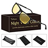 Night-Vision Glasses for Safe Driving Men/Womens, Upgrade Retro Anti-glare Eyewear Polarized HD Sunglasses