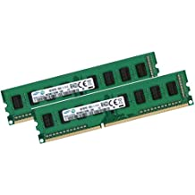 Samsung 8 GB Dual Channel Kit 2 x 4 GB 240 pin DDR3-1600, NON-ECC, sin memoria intermedia DIMM (1600 mhz, PC3-12800U, CL11, 1,5 V)