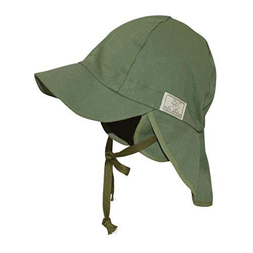 PickaPooh Baby/Kinder Sonnenhut/Sonnenmütze Tom mit UV-Schutz aus Reiner Bio-Baumwolle, Olive, Gr. 40