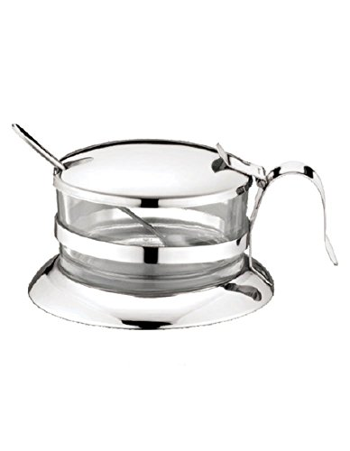 Küche Gewürzflasche Gewürzglas Glas Käse Zucker Tasse Edelstahl Silber