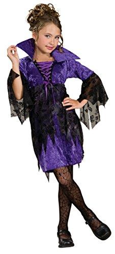 Gr. M 116-128 5-7 Jahre Vampir Hexe Kinder Mädchen Halloween Karneval Kostüm (Mädchen Halloween Fünf Kostüme)