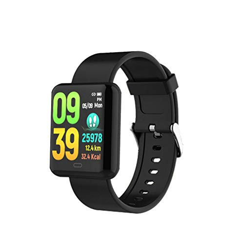 MXQH Fitness Tracker Watch, Activity Tracker Watch Smart Armband mit Heart Rate Blood Pressure Monitor, Touch Color Screen Pedometer Watch, IP67 Waterproof Smart Band,Black