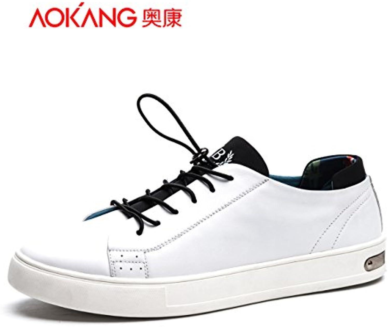 Aemember zapatos de hombre, zapatos planos Comfort-Strap movimiento antideslizante ,42, blanco
