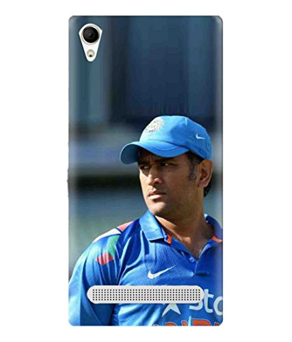 Sibu Print Our Hero MS DHONI/MAHI for MSD Fans Latest Collection Designer Printed Polycarbonate Matte Finish Hard Back Case Cover for Intex Aqua Power Plus