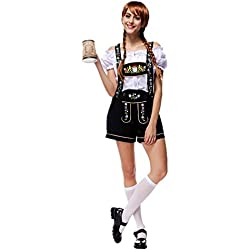 Disfraz de Bavara Mujer Traje Cosplay de Oktoberfest traje tradicional regional