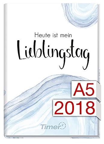 Chäff-Timer Classic A5 Kalender 2018 [Lieblingstag] 12 Monate Jan-Dez 2018 - Terminkalender mit Wochenplaner - Organizer - Wochenkalender