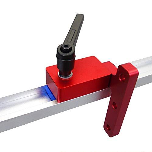 seasaleshop 300mm T-Track T-Slot T-Nut Mitre Track Stopper Stop Holzbearbeitung Manuelle Werkzeuge