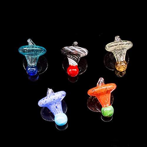 M OD UFO Carb Cap Dome für Quarz BangerUniversal Farbige Glasnägel Glas Wasserpfeifen, Tupfen Öl RGS Glas Bong (Fluoreszierend, 35MM) ()