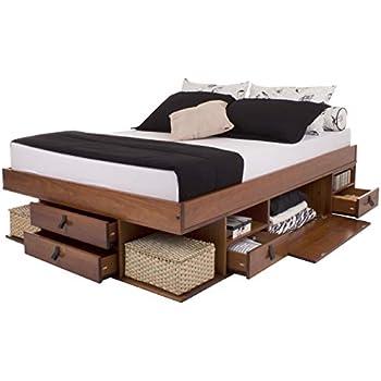 Funktionsbett Bali 140x200 - Bett mit viel Stauraum und Schubladen, optimal  für kleine Schlafzimmer - Modernes Stauraumbett aus Kiefer Massivholz - ...