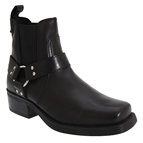 Gringos Low Harley - Bottines en cuir - Homme Noir