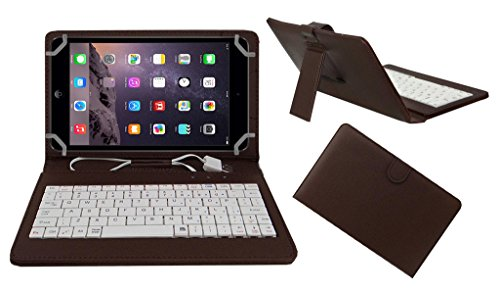 ACM Premium USB Keyboard Tablet CASE Holder Cover for Apple IPAD Mini 2 with Free Micro USB OTG – Brown