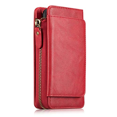 e XR-Etui Eine Business-ReißVerschlusstasche FüR Das iPhone XS Max/iPhone X/XS/iPhone 7plus, Leder-Multifunktions-All-Inclusive-Lanyard, Red,iphone6p/6sp ()