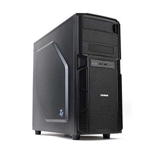Zalman z1 midi-tower black computer case - computer cases (midi-tower, pc, plastic, steel, atx, black, bottom)